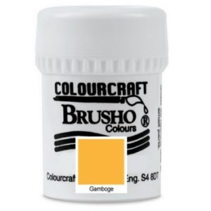 Brusho Colours Gambodge