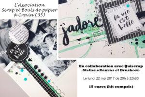 Un atelier à Crevin (35) ouvert à tous en collaboration avec l'association Scrap et Bouts de Papier