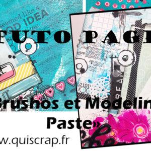 Tuto Page «Brushos et Modeling Paste»
