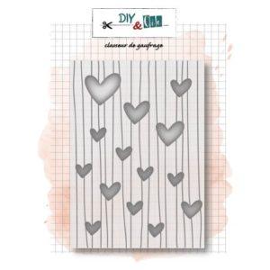 Classeur de Gaufrage «Cœurs» DIY & Cie