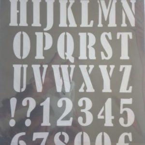 Pochoir Alphabet ARTEMIO