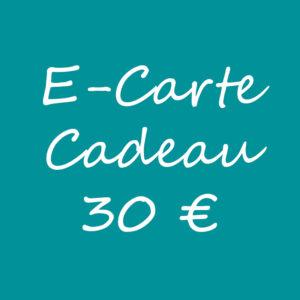 E-carte cadeau 30€