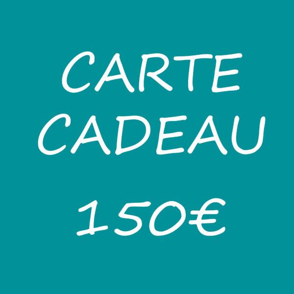 carte cadeau 150 euros