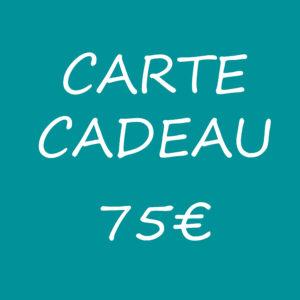 carte cadeau 75 euros