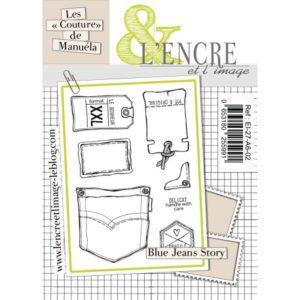 Planche de tampons L'Encre et L'Image «Blue Jeans Story»
