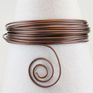 Fil Aluminium 1mm 3mètres Chocolat Mat