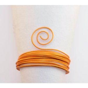 Fil Aluminium embossé 2mm 5m Orange Saffran