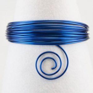 Fil Aluminium 1mm 3mètres Royal Blue