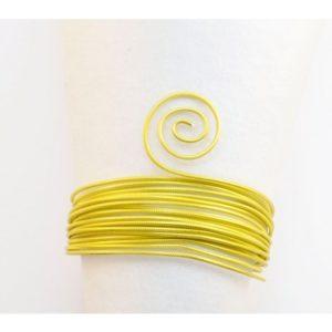 Fil Aluminium embossé round 2mm 5m sunny yellow
