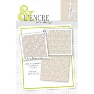 Pochoirs L'Encre et L'Image «Les Géométriques I»