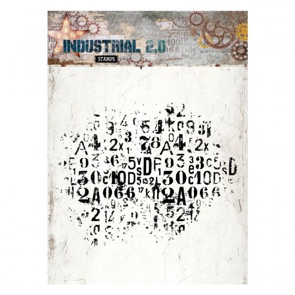 lettre et chiffre grunge tampon