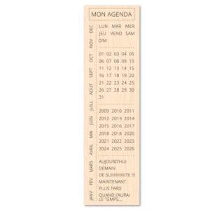 Tampon bois «Mon Agenda» Les Ateliers de Karine