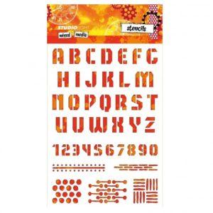 Pochoirs «Alphabet, chiffres et autres» Studio Light
