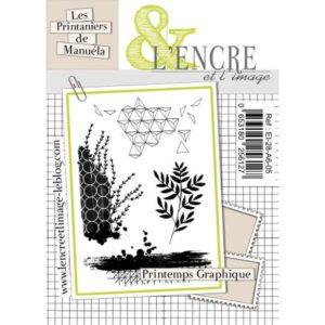 Planche de tampons L'Encre et L'Image «Printemps Graphique»