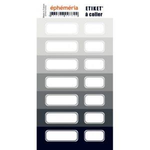 Stickers Etiquettes Ephemeria Nuances de Gris