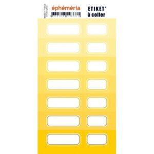 Stickers Etiquettes Ephemeria Nuances de jaune