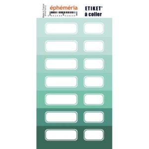 Stickers Etiquettes Ephemeria Nuances de Mint