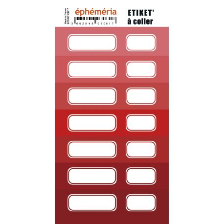 stickers ephemeria nuances de rouge
