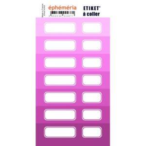 Stickers Etiquettes Ephemeria Nuances de Violet