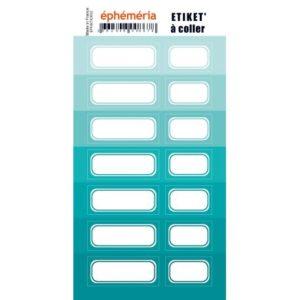 Stickers Etiquettes Ephemeria Nuances de Turquoise