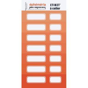 Stickers Etiquettes Ephemeria Nuances de Orange