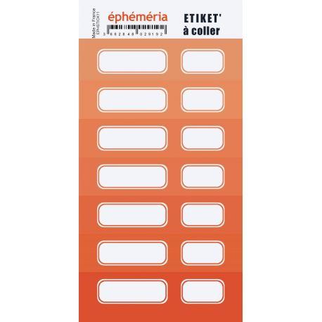 stickers ephemria nuances de orange