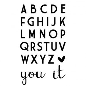 Die Alphabet et mot YOU/IT