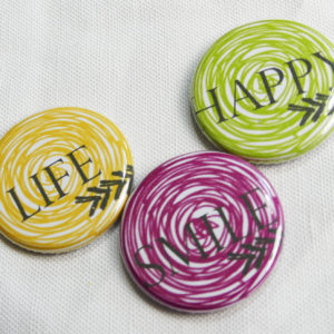 Lot de 3 Badges « La Spirale » de Quiscrap