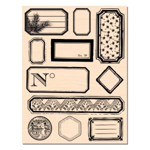 bois étiquettes