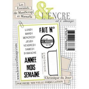 Planche de tampons «Chronique du Jour» L'Encre et L'Image
