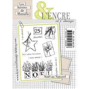 Planche de tampons clear Noël Au Naturel L'Encre et L'Image