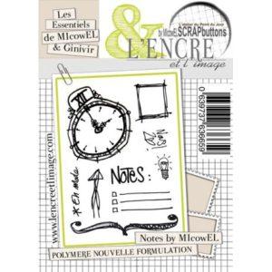 Planche de tampons clear «Notes By Micowel» L'Encre et L'Image