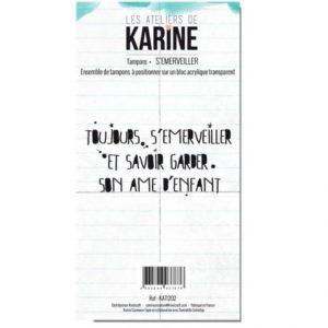 Planche de tampons clear «S'émerveiller» Les Ateliers de Karine