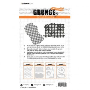 Lot de dies Grunge grillage quadrillage Studio Light