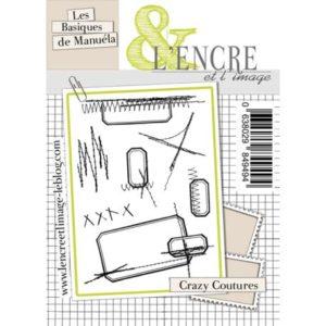 Planche de tampons «Crazy Coutures» L'Encre et L'Image
