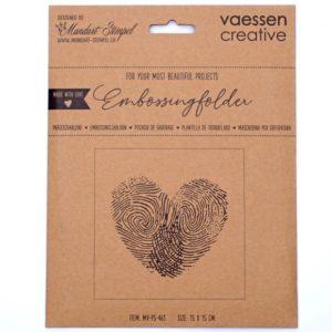 Classeur d'Embossage Coeur Empreinte Digitale