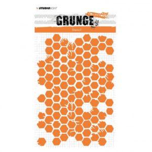 Pochoir Grunge nid d'abeille Studio Light