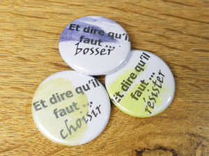 Une nouvelle collection de 3 badges vient de sortir chez Quiscrap