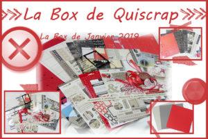 La Box de Quiscrap: Janvier 2019