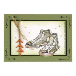 Tampon Clear Paire de Baskets style Converse