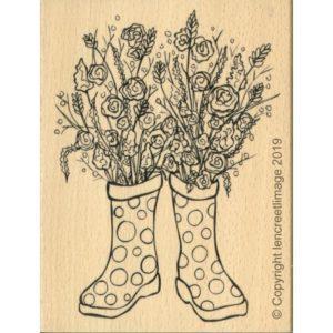 Tampon Bois L'Encre et L'Image «Bouquet de Printemps»