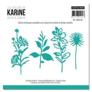 Lot de 4 Dies Les Ateliers de Karine «Fleurs du Jardin»