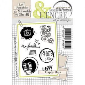 Planche de tampons L'Encre et L'Image Happy Days