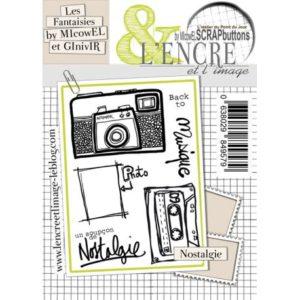 Planche de tampons L'Encre et L'Image Nostalgie