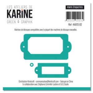 Lot de 3 Dies Les Ateliers de Karine «Porte Etiquettes»