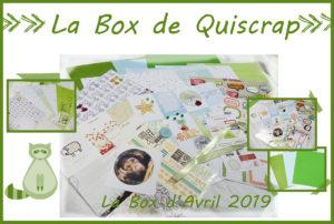 La Box de Quiscrap: Avril 2019