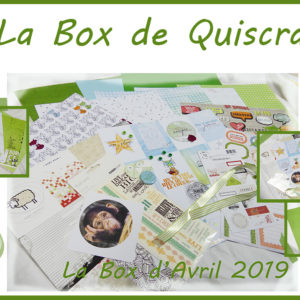 La Box du Mois d »Avril 2019