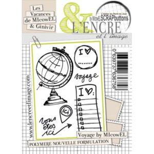 Planche de tampons L'Encre et L'Image » Voyage by MIcowEL»