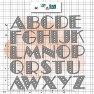 Dies Alphabet Music Hall de DIY&Cie