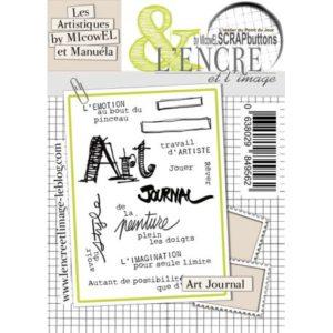 Planche de Tampons L'Encre et L'Image Art Journal